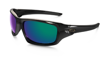 Oakley Valve Sunglasses Polished Black Deep Blue Iridium Polarized OO9236-12