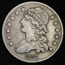 1837 Capped Bust Quarter Choice Fine+ Free Shipping E282 Apx