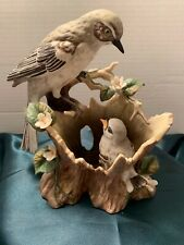 Homco Home Interiors Masterpiece Gentle Beginnings Mockingbirds Bird Figurine