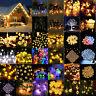 Christmas Solar Power LED String Fairy Light Outdoor Yard Xmas Party Decor Lamp