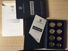 ANDORRA PROOF Euro coin set 2014 - 8 coins 1 cent - 2 euro ORIGINAL