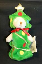 "GANZ - Wee Bear Village - Tannenbaum dressed as Christmas Tree - 7"" Retired"