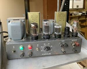 PEDERSEN ELECTRONICS AMP? POWER SUPPLY? 200-325 VDC 6.3 3A W/ GE 6L6 In It...