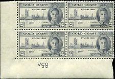 Gold Coast Scott #128a  Plate Number Block of 4 Mint