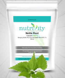 Nettle Root 1000mg Capsules Nutrivity for Urinary UTS Health Natural Supplement