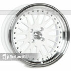 Circuit Performance CP21 16x8 4-100 +25 Gloss White Wheels Rims Classic Mesh