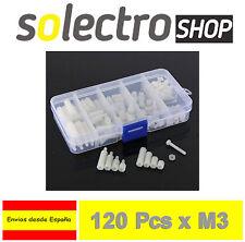 120x M3 Nylon Separador Tornillo Tuerca Hexagonal Arduino Robot PCB Spacer H0049