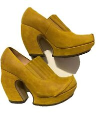 JOHN Fluevong PLATFORM HEELS SHOES PUMPS Green Portugal Wedges Pumps 6 Arc Map