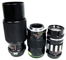 WOW ! Spiratone TC 105mm  f2.5 & Topcor 130mm 1.7  & other  Camera Accessories