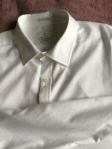 "GANT The Good Traveler White Satin Men's Formal Shirt Size XXXL 19"""