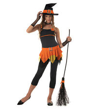 Teen Sassy Witch Orange Pumpkin Halloween Costume