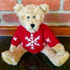 $24. NEW! Christmas Teddy Bear w/Red Knitted Sweater+Snowflake Stuffed Plush Toy