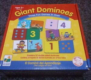 GIANT DOMINOES The Learning Journey MATCH IT GAME 3 in 1 Games Set Ages 3 & up