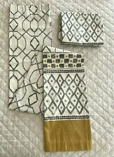 West Elm curtains [2]. Hidden Tab Top treatment. 48x84 inches. Yellow & Gray