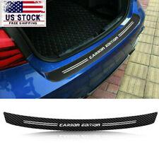 Car Accessories Rear Bumper Trunk Tail Lip Protector 5d Carbon Fiber Sticker