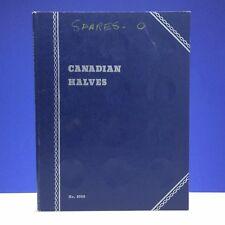 Canadian Halves Plain No Dates Whitman Blue No. 9080 Coin Book C075