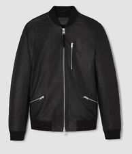 AllSaints Men's Utility Leather Bomber Black - L