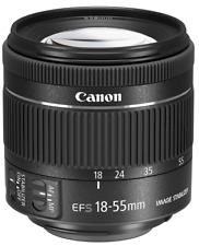 Canon EF-S Compact 18-55mm F4-5.6 IS STM Lens Black: White Box