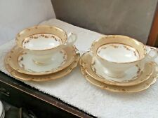 TWO 1850+ TRIOS, CUPS, SAUCERS AND SIDE PLATES BY RIDGWAY CHINA