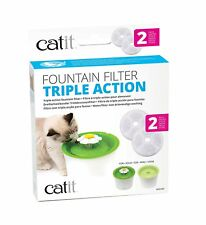 Catit 2.0 Triple Action Flower Fountain Replacement Water Softening Filter 43745