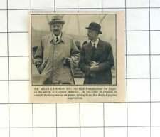 1936 Sir Miles Lampson Arrives At Croydon, Egyptology