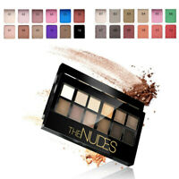 Technic 12 Colour Eyeshadow Palette Set Kit Matte Sleek Smoky Nude Bronze e