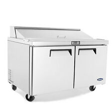 """Atosa Msf8303 60"""" 2 Door Sandwich Prep Unit 16 Stainless 1/6 Pans Free Liftgate"""