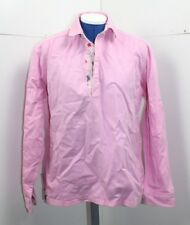 Ladies Joules Long Sleeved polo top Size Small pink