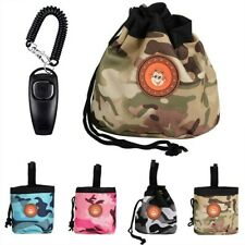 More details for puppy pet dog obedience training treat bag feed pouch & training whistle clicker
