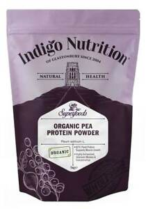 Organic Pea Protein Powder 250g 500g 1kg Vegan Isolate Gluten Free Indigo Herbs