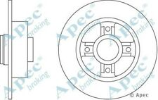 1x OE Quality Replacement Rear Axle Apec Solid Brake Disc 4 Stud 240mm - Single