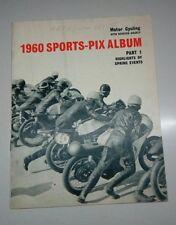 1960 SPORTS-PIX ALBUM PART 1 MOTOR CYCLING MAGAZINE VINTAGE RACING PHOTOS