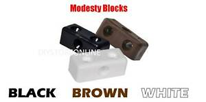 Modesty Blocks Black Brown White Joinery Cabinets Sliding Wardrobes Home DIY