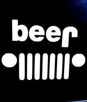 "Jeep Beer Vinyl Decal Windows Laptop Tumbler Yeti Sticker Wave 2.5""x3.5"""
