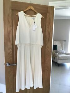 BNWT Reiss Cream Maxi Dress Size Uk 16 RRP £ 195