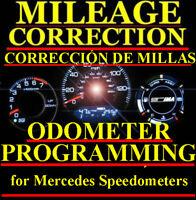 MERCEDES SPRINTER Speedometer Instrument Cluster Mileage Odometer PROGRAMMING
