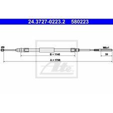 1x ORIGINAL ATE HANDBREMSSEIL SEILZUG FÜR BMW 3er E46 24.3727-0223.2 HINTEN
