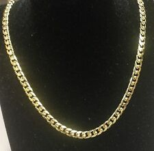 "10KT Solid Yellow Gold Miami Cuban Curb Link 24"" 5mm 26 grm chain/Necklace MC150"