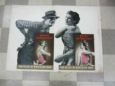 Original Vintage JOHNSON'S RED CROSS PLASTER Drugstore Rexall Drug Sign Poster