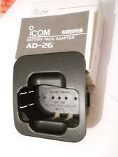 ICOM AD-26 adattatore per pacco batteria BC-79 NUOVO