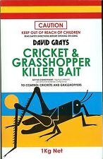 Carbaryl Cricket and Grasshopper Killer Bait 1kg David Grays Insect Pest Garden