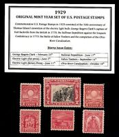 1929 YEAR SET OF MINT -MNH- VINTAGE U.S. POSTAGE STAMPS