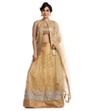 Sari Lehenga Beige Lehenga Indian Saree Bollywood Lehenga Golden Lehenga Sari
