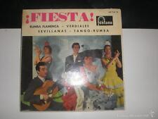 EP ANTONIO ARENAS Y SU GRUPO FLAMENCO - ¡FIESTA! - FONTANA 1962 VINILO ROJO