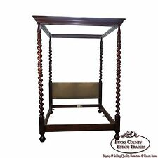 Baker Collectors Edition Queen Tall Barley Twist Poster Canopy Bed