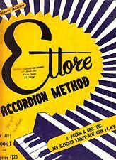 Ettore Accordion Method Book 1 Pagani Edition 1954