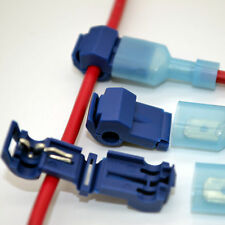 50X Quick Splice Lock Wire Terminals Connectors Electrical Crimp Cable Snap Kits