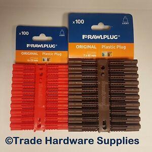 Rawlplug Original Wall Plug Fixings Anchor Rawl Plugs