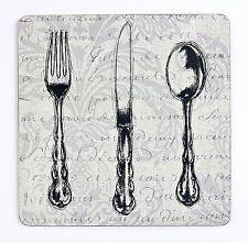 Inspire FH249319 Set of 4 Vintage Cutlery Coasters