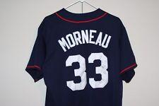 Majestic MN Twins VTG 2000's Morneau #33 Sewn Home Jersey MLB Baseball MVP Hip